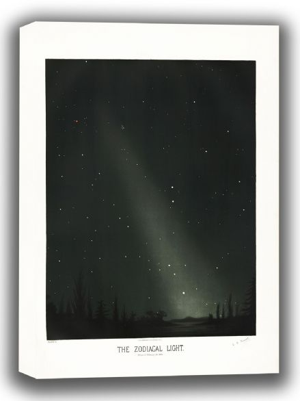 Trouvelot, Etienne Leopold: The Zodiacal Light. (The Trouvelot Astronomical Drawings, 1882). Astronomy/Space Canvas. Sizes: A4/A3/A2/A1 (107)